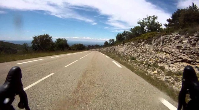 Mont Ventoux bike descent (Max. 117.5km/h)