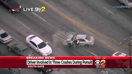 Los Angeles Chase, Accidents and High Speed